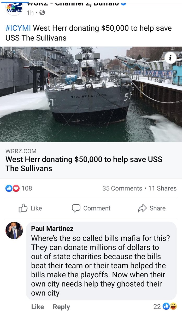 """Paul is criticizing @BuffaloFAMbase #BillsMafia for not donating to our """"own city"""". I guess Children's Hospital doesn't count? So, does this mean that Paul knows every single member of Bills Mafia, and that none of them donate to other charities on their own? Don't be like Paul."""
