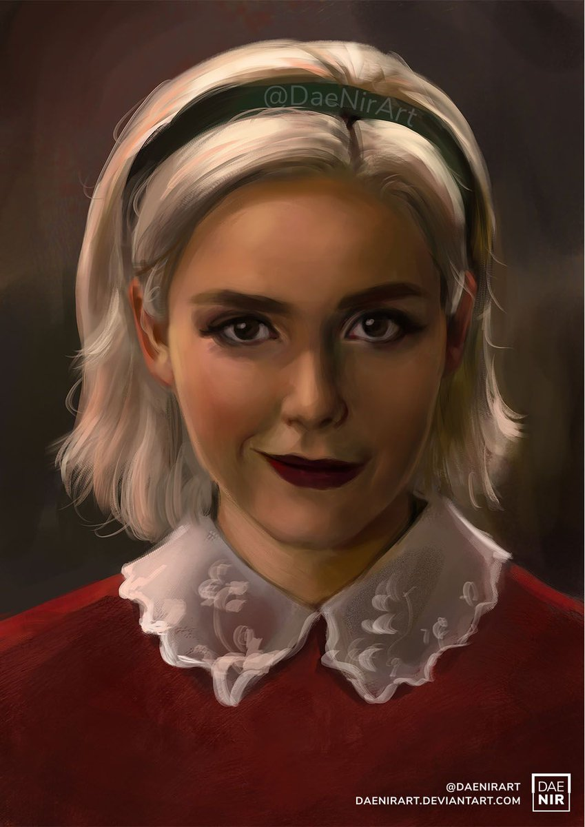 Chilling Adventures of Sabrina -  what do you think about it? The last series seemed a little worse, but overall I liked it.  #sabrina #chillingadventuresofsabrina #netflix #sketch #photoshop #portrait #patreon #digitalart #drawing #painting