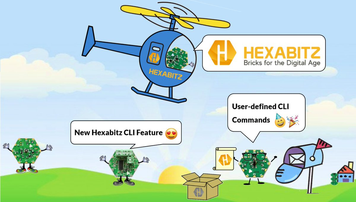 User-defined CLI Commands is a new #Hexabitz CLI #feature that empowers you to create pre-defined CLI commands for your own applications💡💻  @Hacksterio #opensource #linux #EduTwitter #DIY #IoT #makers #coding #edtech #homelearning @ST_World #100DaysOfCode