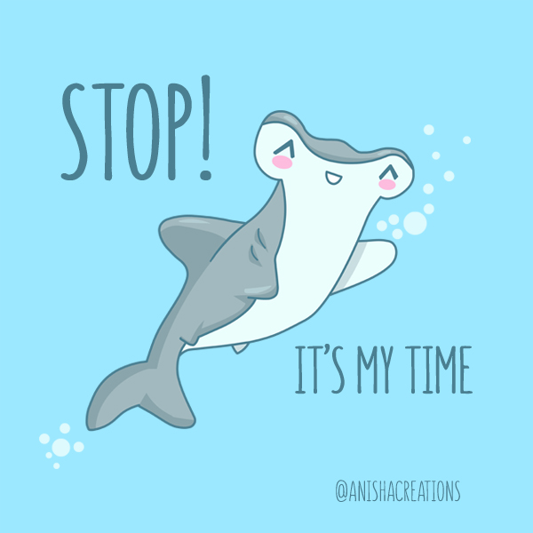 Stop!🖐🦈 @displate #cute #art #prints #kawaii #sharks #cuteness #design #geek #music #puns #hammer #90s #head #time #lol #memes #cartoons #giftideas #funny