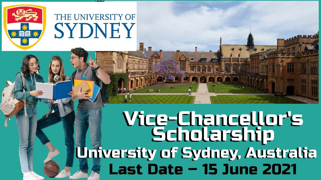 Vice-Chancellor's Scholarship at University of Sydney, Australia