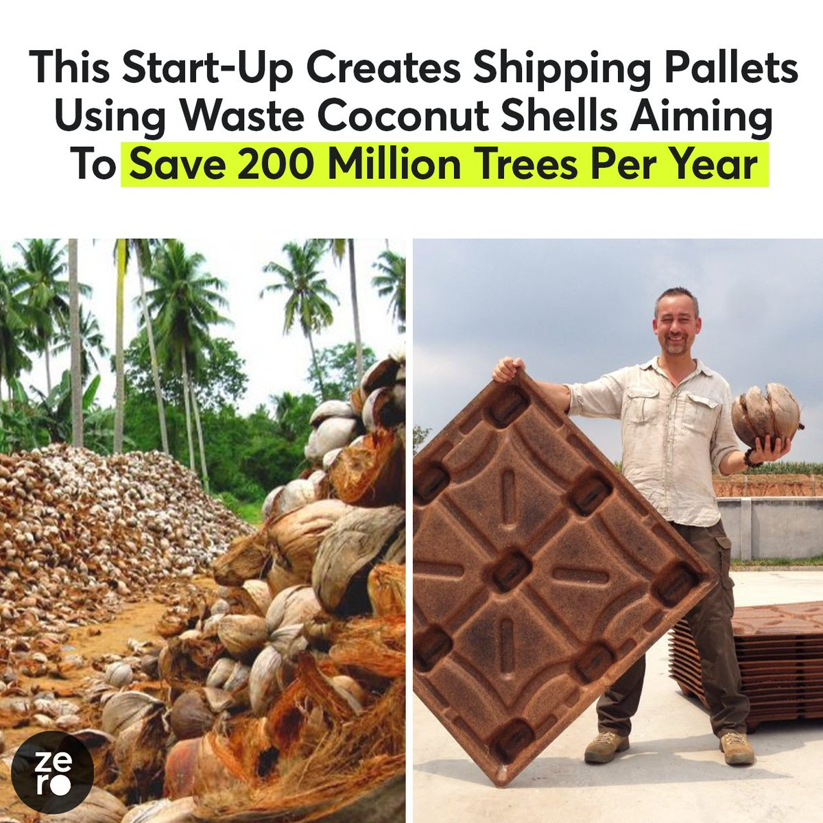 This could save millions of trees while also recycling a waste product. It doesn't get any better than that!