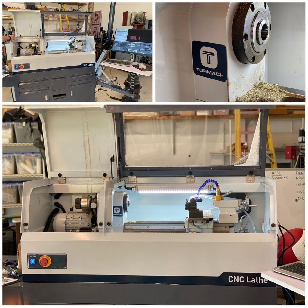 We are so excited that Tormach customer Bruce Charles Designs is using and loving their new Tormach 8L CNC Lathe! Keep up the great work!  #makers #makersgonnamake #madewithtormach #cnclathe #garagecnc #garageshop #instamachinist