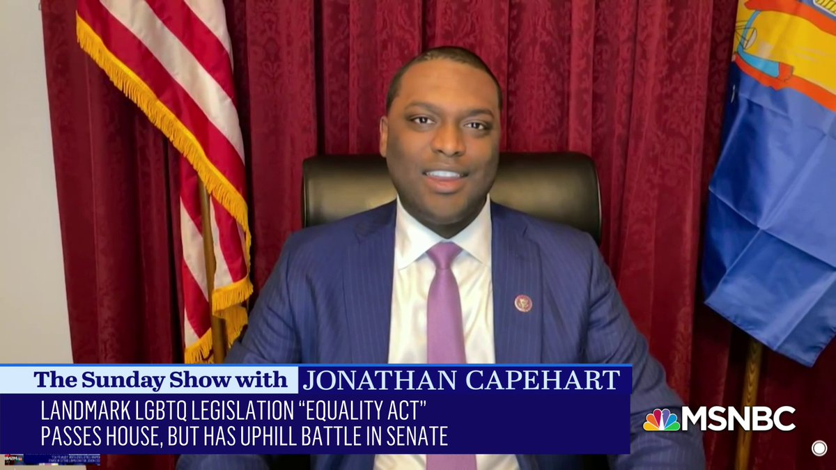 Rep. @MondaireJones on the Equality Act, working to make federal anti-discrimination legislation more fair, and being the first openly gay, black man elected to Congress. #SundayShow