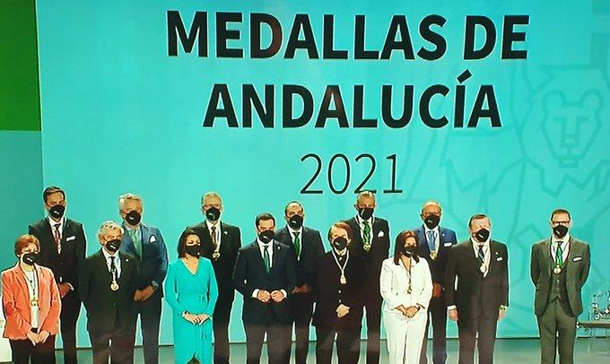 Entrega de medallas Andalucía 2021