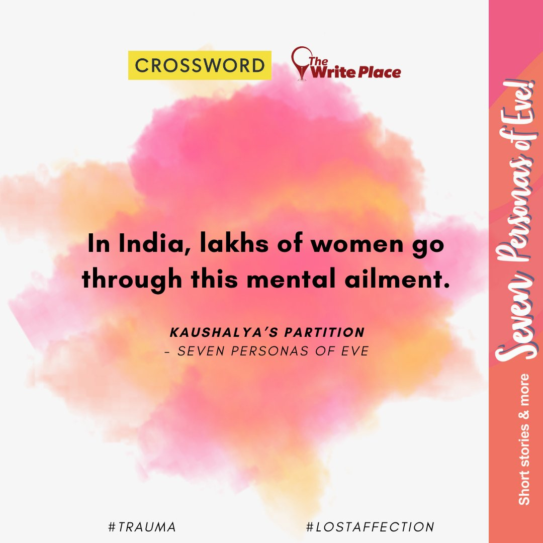 In Seven personas of Eve, Kaushalya tells the heart wrenching tale of the partition of a woman's heart in the backdrop of Partition of Undivided India.  Available here https://t.co/rDVsoJezre & nearest Crossword Bookstores.  #CelebratingSevenPersonasofEve #Story1 #StoriesByWomen https://t.co/aW0OZJP02L