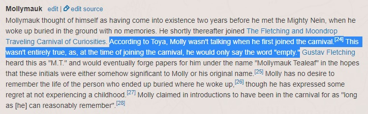 """when Molly 1st joined the circus, he didn't say anything except the word """"empty."""" (how Vess left him). the carnival helped him re-learn to talk, start experiencing & enjoying life  when Molly met Yasha, he didn't know her story, but he knew what emptiness felt like 1/ #crspoilers"""