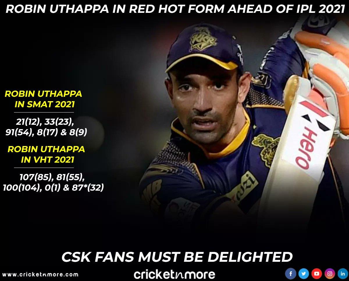 . @robbieuthappa 🔥🔥 . . #cricket #indiancricket #teamindia #csk #vijayhazaretrophy #syedmushtaqalitrophy #ipl #chennaisuperkings #robinuthappa