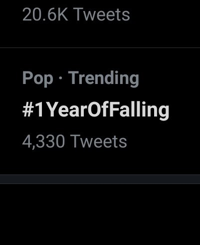 It's trending! The power Harold holds!  #1YearOfFalling