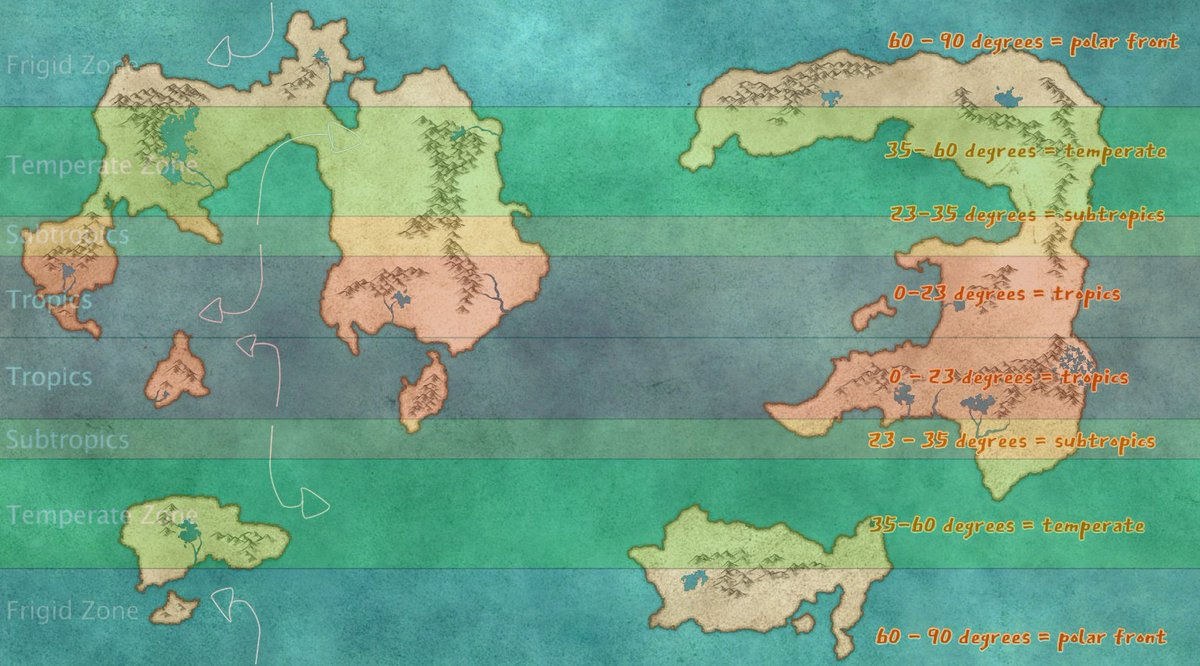 yall im trying to map ocean currents for my dnd campaign map and wtf why cant people just tell me if water go left or water go right (posting the map in hopes one of you is secretly a water genius)