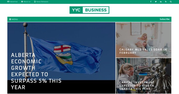 Support local #journalism. YYCBusiness - city's only daily #online #business #news #publication with regular informative and important #content for the community. We're disruptors.   #Calgary #media #socialmedia #digitalmarketing #contentmarketing #yycbiz