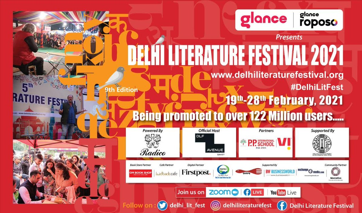 Dear, #publishers, #Authors, #partners, #moderators &  the DLF Team, thankyou all for a lovely and most memorable #DelhiLiFest 2021, which just concluded, tonight. India's most exciting & bestseller Authors were there. Let's stay in touch, stay safe & stay healthy.