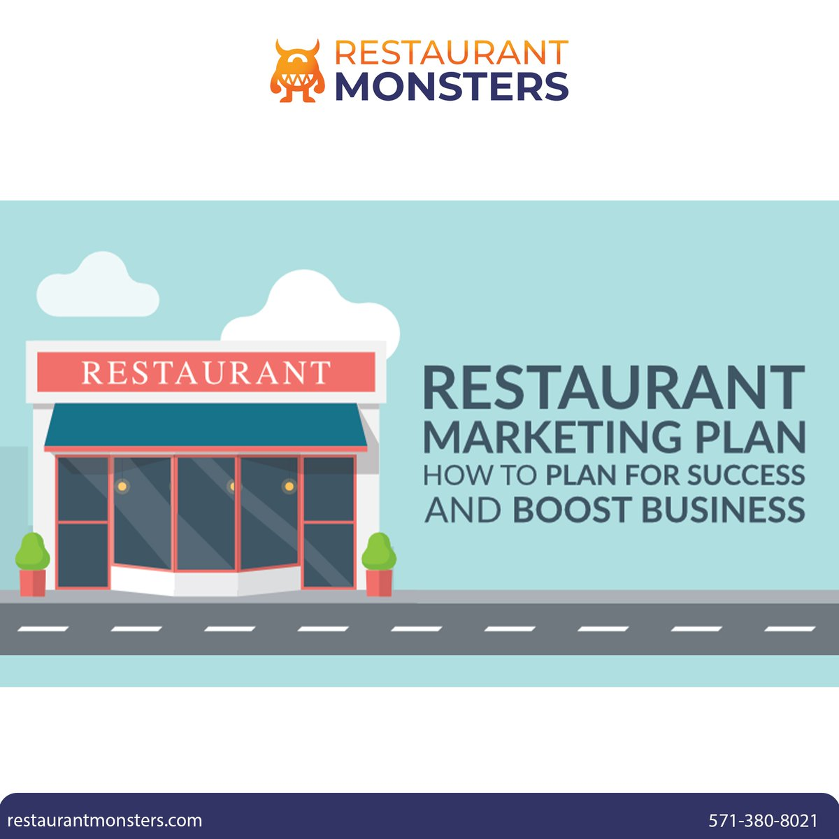 Ask us how we can make a plan for your success and boost your business!  💻 📞(571) 380-8021  #restaurant #food #foodie #marketing #business #socialmedia #branding #digitalmarketing #success #advertising