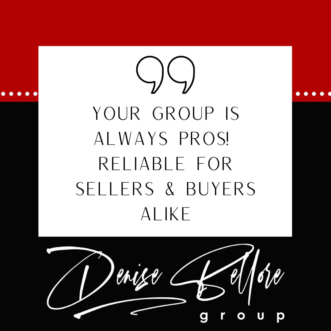 Striving to be reliable for both buyers and sellers!  #thankful #denisebelloregroup #dbg #buysellwithme