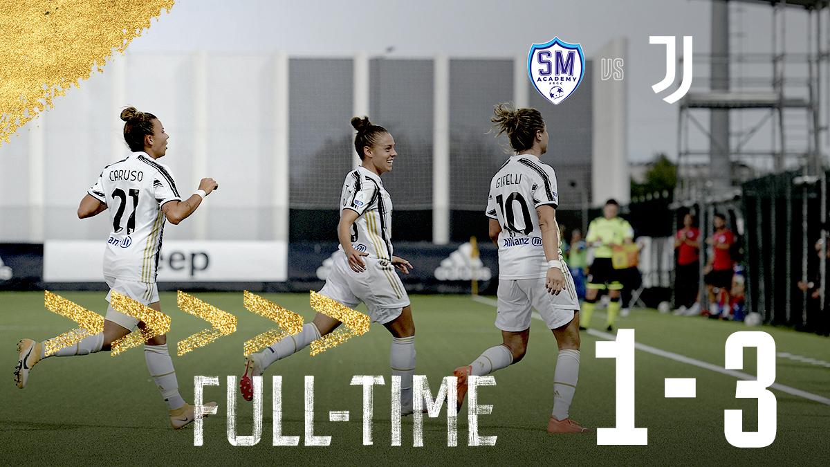 Replying to @JuventusFCWomen: FT | ⏱| 𝐃𝐢𝐬𝐭𝐫𝐢𝐜𝐭 𝟏𝟒: The victors! 💯🙌  #SanMarinoJuve (1-3) #ForzaJuve