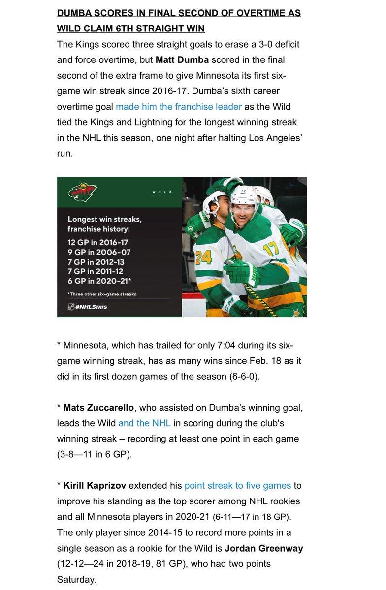 #mnwild notes in today's @PR_NHL Morning Skate: