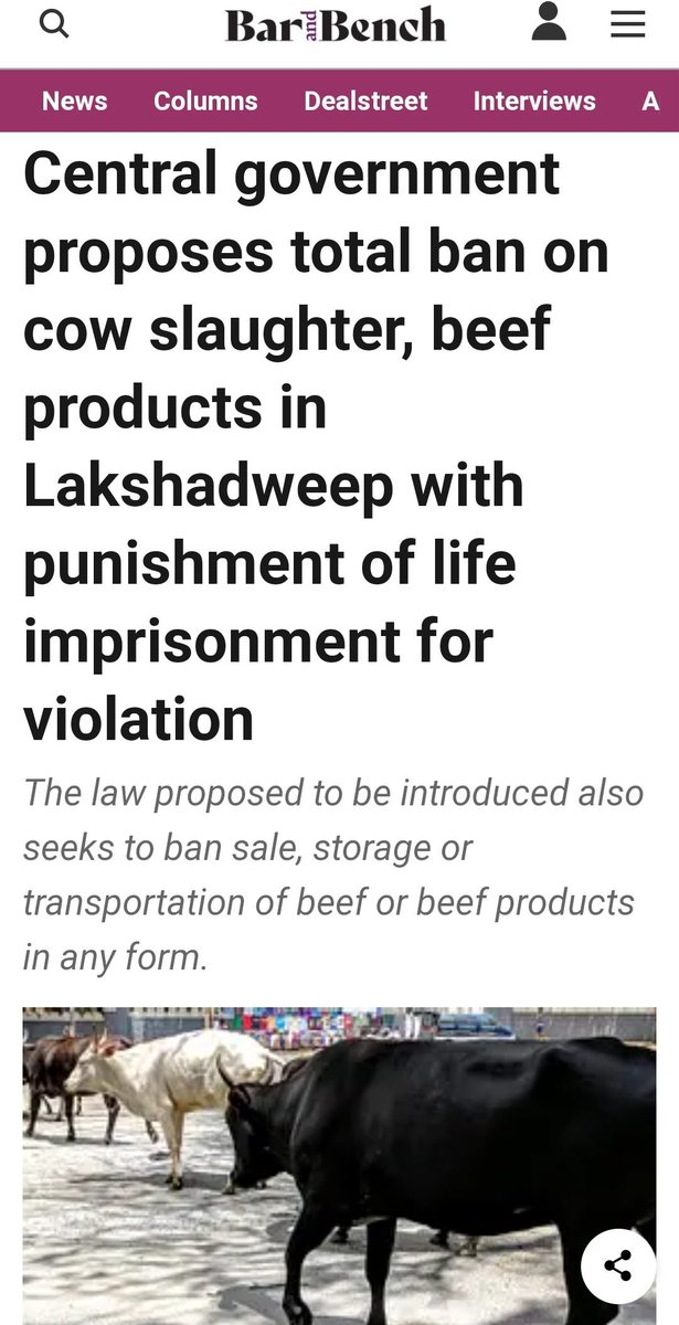 """Lakshadweep is 93% Muslim and they are forced to adopt """"culture"""" and """"lifestyle"""" of outsiders. #Islamophobia"""