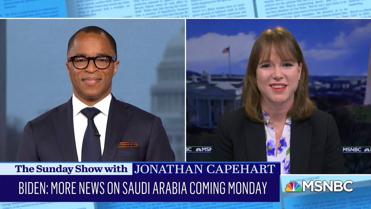 """Kate Bedingfield, @WHCommsDir, addresses the #Biden administration releasing the Khashoggi report which she says the previous administration buried, and the plan to """"recalibrate"""" the U.S. relationship with Saudi Arabia. #SundayShow"""