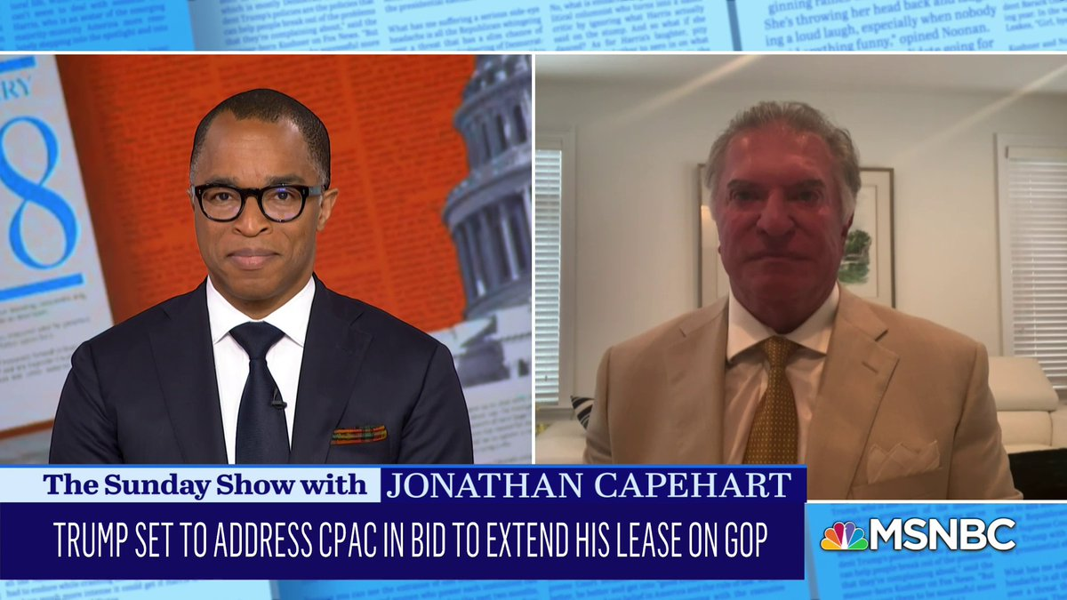 """.@AlCardenasFL_DC on #Trump's speech to day at #CPAC, calling the former president """"the great whiner."""" #SundayShow"""