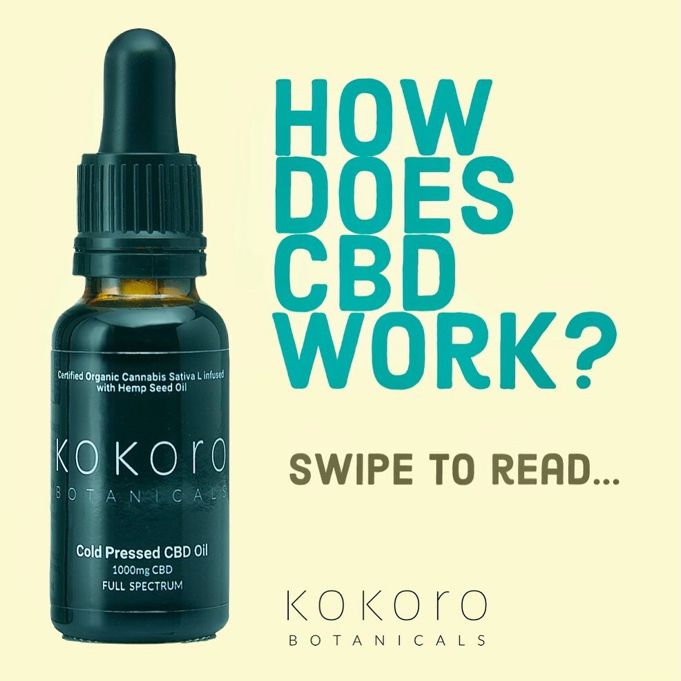 How's does CBD work? A frequently asked question! Swipe to find out more 🙌🏽🌱  #cbd #cbduk #endocannabinoidsystem #endocannabinoid #cbdeducation #smallbusinessowner #wellness #anxiety #recovery #hemp #hempoil #cbdfacts #cbdbenefits #cbdhelps