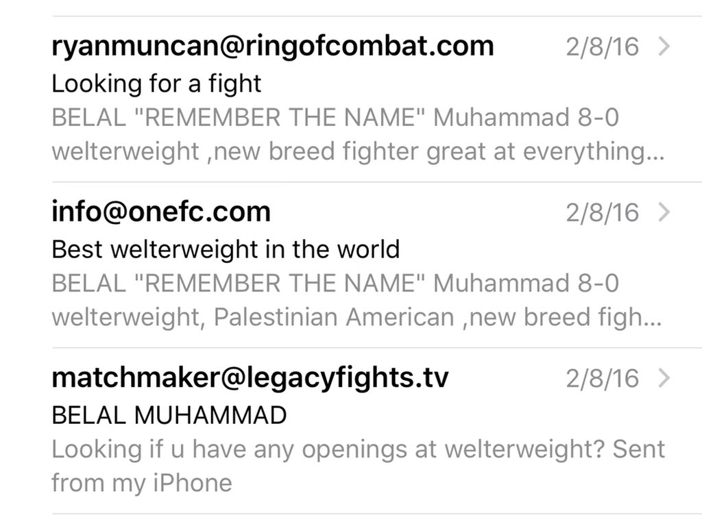Replying to @bullyb170: Went from emailing company's asking for a fight to headlining @ufc on @espn #Alhamdulillah