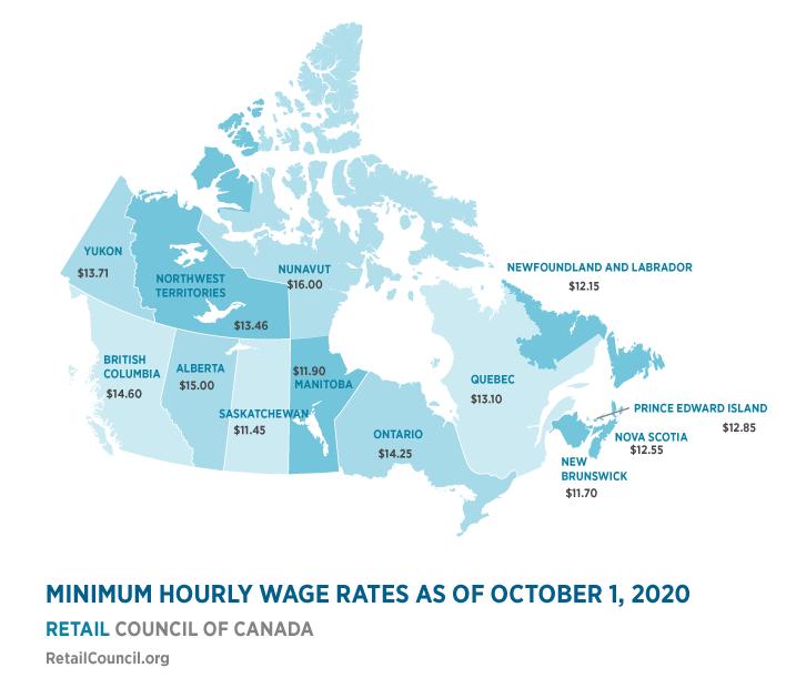 #MinimumWage across Canada. #BernieSanders