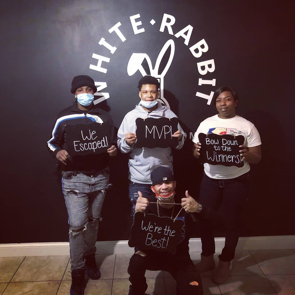 Escape Room Pros Check ✅ . . #weekendwarriors #escapeartists #fridayvibes #escape #escaperoom #nwi #whiterabbitescaperoom #chicagoland
