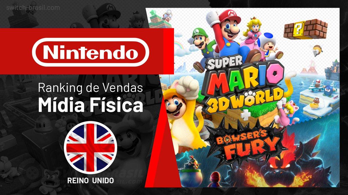 Ranking de Vendas no Reino Unido   Super Mario 3D World + Bowser's Fury permanece em #1 (28/02/2021)  🔹   #GFK #News #Nintendo #NintendoSwitch #ReinoUnido