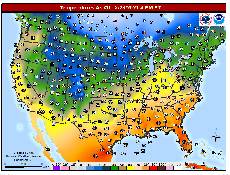 CURRENT TEMPS MAP    4 PM EST Keep up with the weather at                #wx #weather #news  #storm #heavy #rain #flood #thunderstorm #thunder #Snow #ice #tornado #flooding #severe #storms #south #winter #fall #storm  #snowstorm #warm #heat #warming