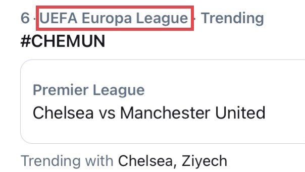 Strange heading for #CHEMUN in UK trending Twitter.  If they continue to defend like they did today, surely they're both heading for the top four?   #Chelsea #CFC #MUFC #ManUtd [PHOTO]