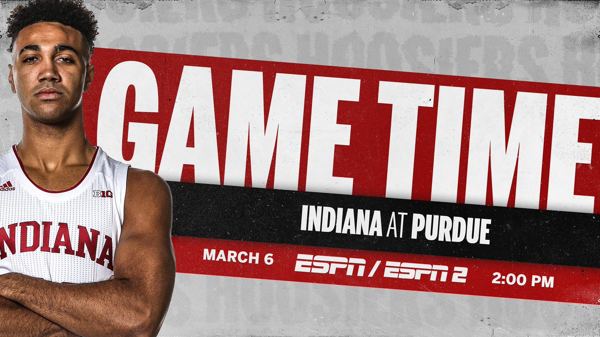 Replying to @IndianaMBB: 🚨 Tip time for Saturday ↴