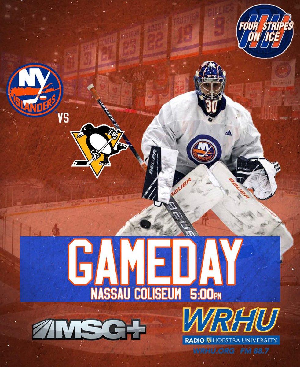 🔁Run it back: 🏝 vs 🐧🔁  📌Nassau Coliseum (Uniondale, NY) 🕰: 4:30pm (pregame); 5pm start 📺: MSG+ (@IslesMSGN) 📻: 88.7 WRHU (@WRHUSports)  NOTES: -No Clutterbuck; likely same lineup as Sat. night  🥅: Sorokin (NYI) vs DeSmith (PIT)  #Isles #LetsGoPens #HockeyTwitter