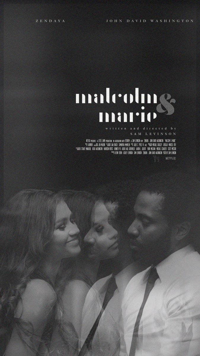"_""Well, Malcolm, unfortunately no one can really write me except you"". Marie @malcolmariefilm @Zendaya #JohnDavidWashington #samlevinson"