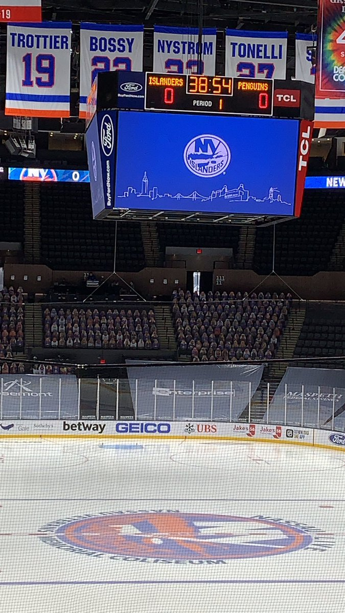 Nice early turnout for Ilya Sorokin's Coliseum debut. (I'll go now)  #Isles