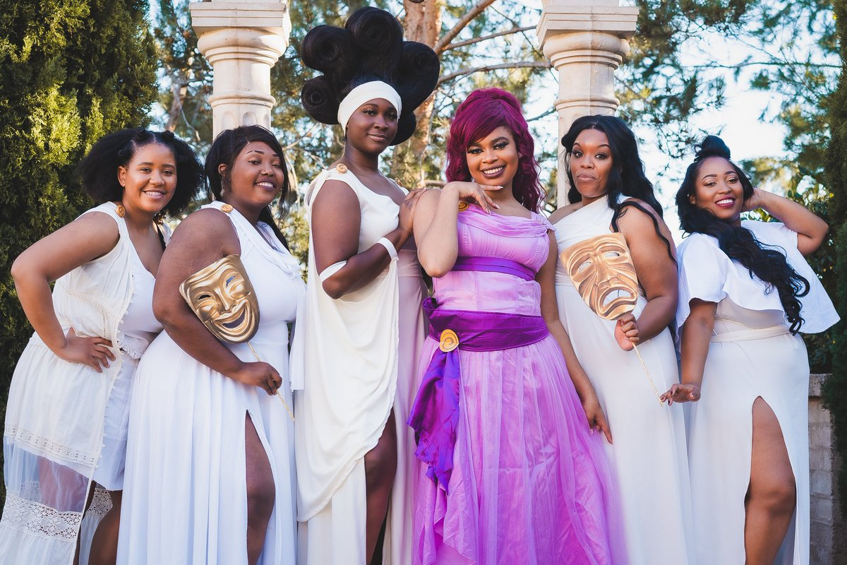 We are the muses goddess of the arts and proclaimers of Heroes.. #disney #hercules