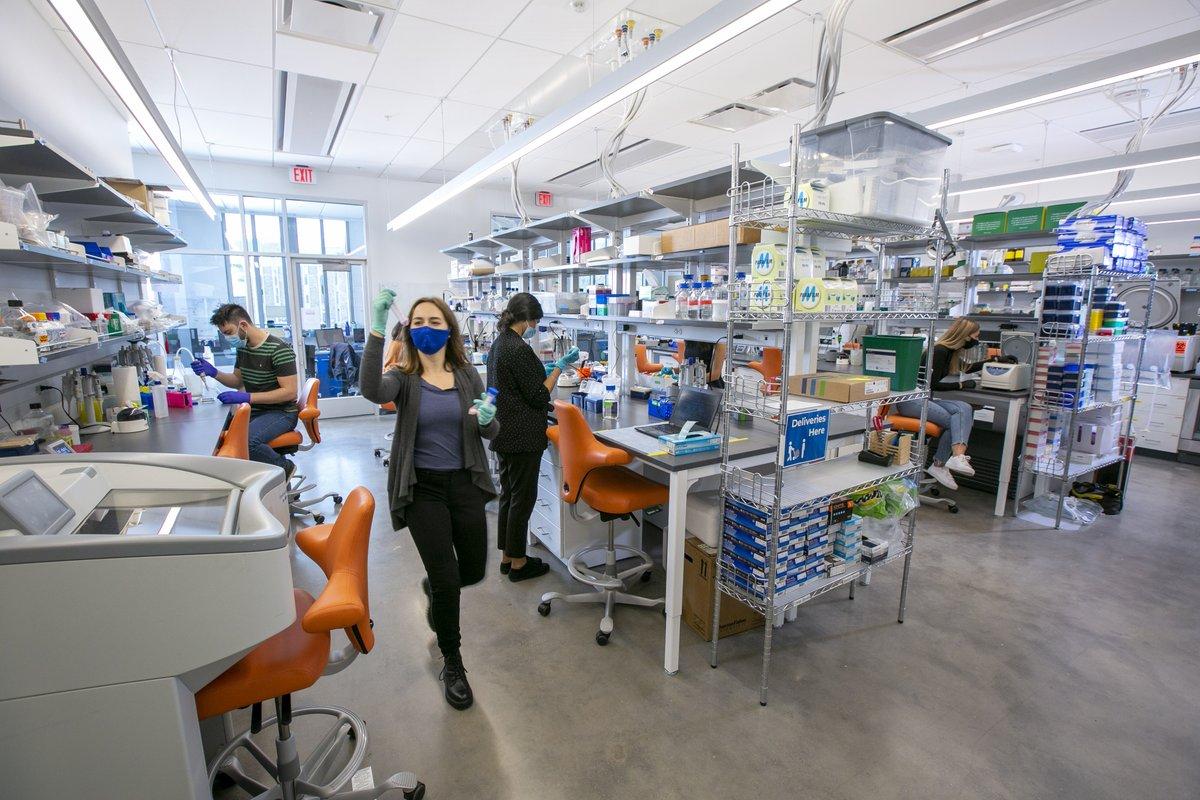 The Alan L. and Carol M. Kaganov Health Neighborhood on the Wilkinson Building's third floor brings together interdisciplinary researchers whose work seeks to improve human health  🔗