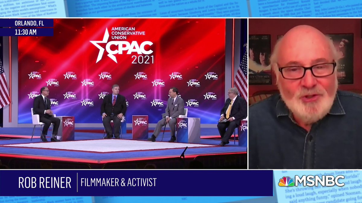 .@RobReiner on #DonaldTrump, #CPAC, and what he sees as the very dim prospects for the GOP. #SundayShow https://t.co/24Ve0TerUp