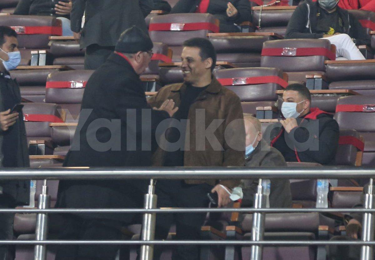 حسام البدري يتابع مباراة الأهلي وطلائع الجيش ️