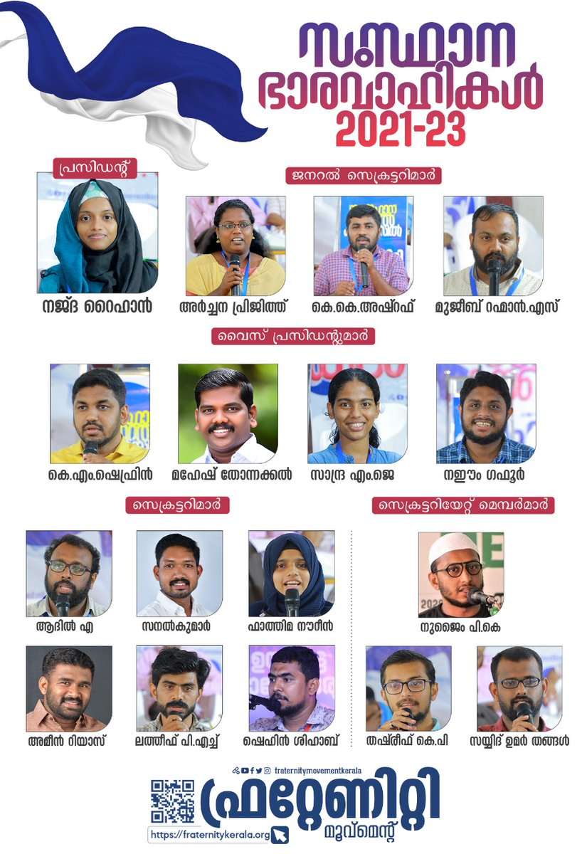 New Fraternity Movement Kerala team. Best wishes for them from Maharashtra.
