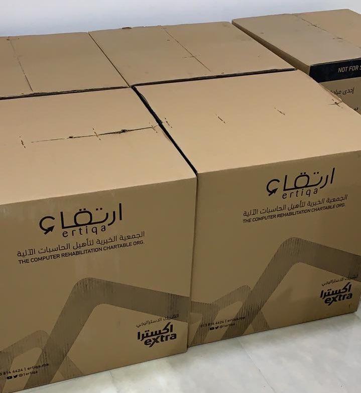 دعم لمقر اللجنة مقدم من قبل جمعية @1Ertiqa عبارة عن أجهزة حاسب آلي فشكراً لهم على هذه المبادرة