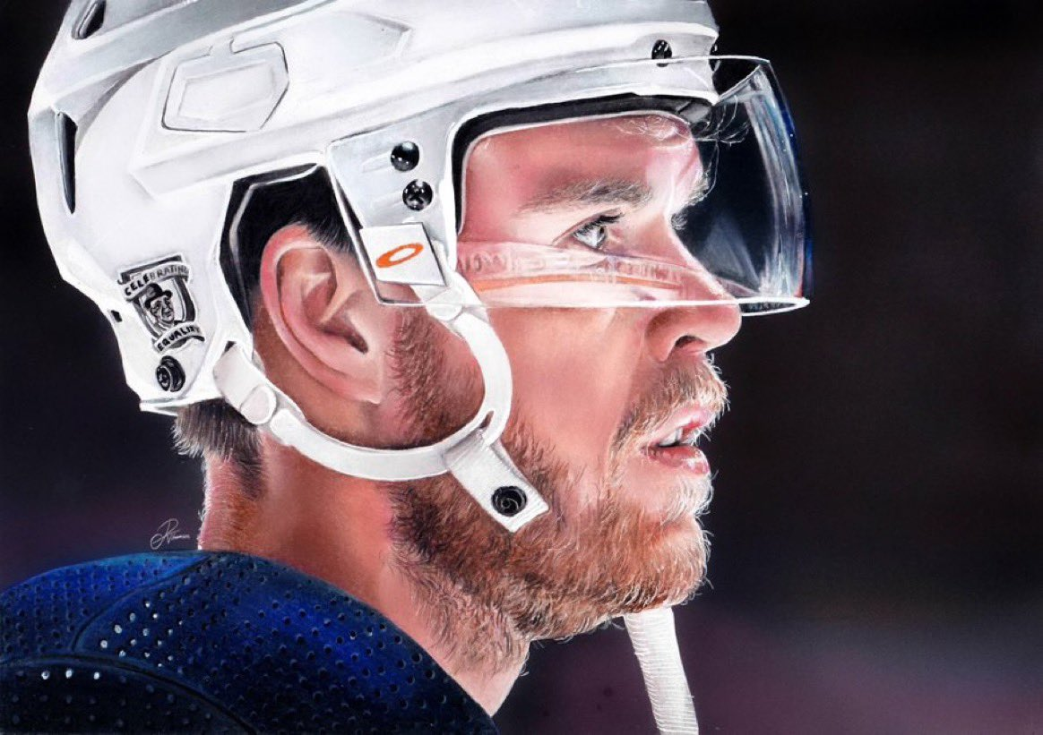 🎨 A R T 🎨  Can we all pause & appreciate this UNREAL pencil drawing of Connor by @reebeccathomson? ✏️  #LetsGoOilers