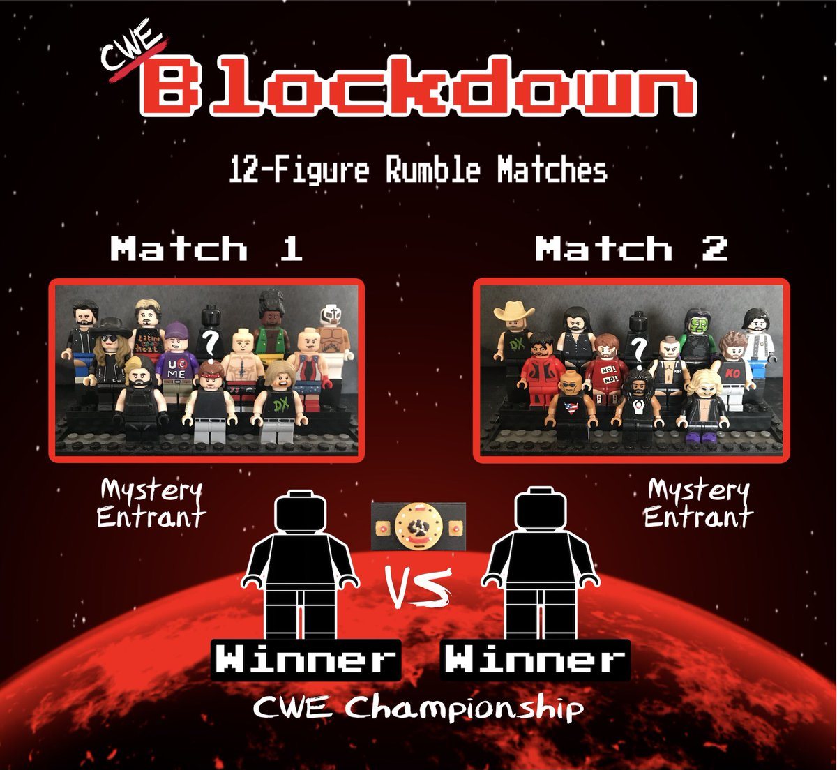 Episode 1 of Blockdown is now on @YouTube! Find out who will be challenging for the CWE Championship next week    #LEGO #StopMotion #stopmotionanimation #YouTubers #youtuber #YouTuber #subscribers #wrestling #WWE #WrestlingCommunity #WrestlingTwitter