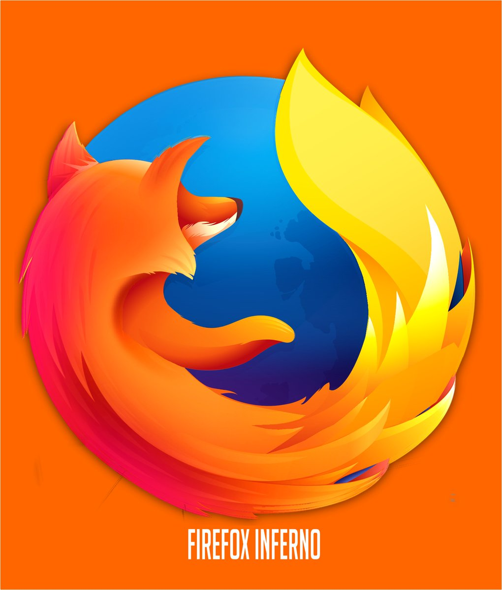 I'm seeing everyone talking about how they hate the newer Firefox logos, and now I'm thinking of the design I made a few years ago combining all the versions together. Even a chrome logo too. Basically a mash of skeuomorphism and minimalism #Firefox #Chrome
