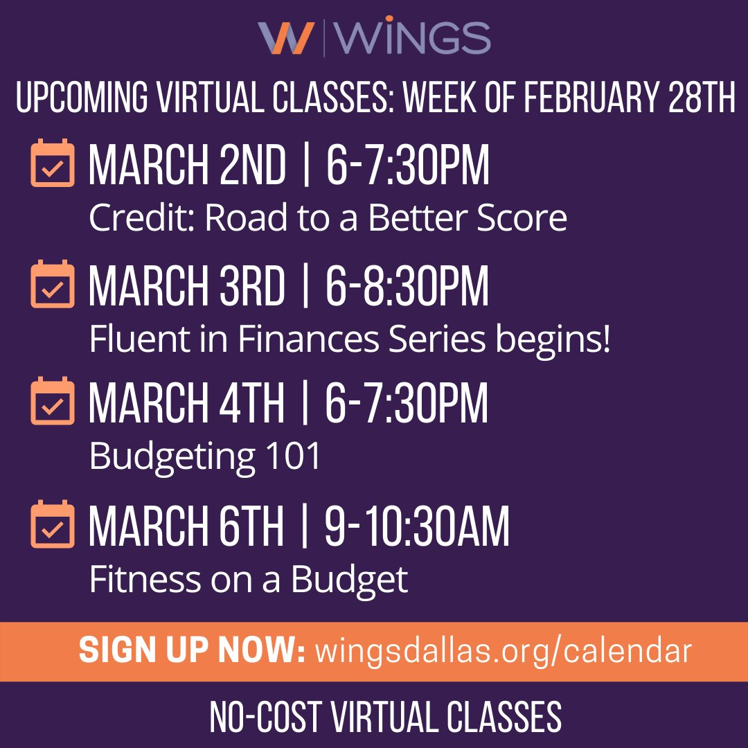 test Twitter Media - We've got a jam-packed, exciting week planned for you all with our virtual classes scheduled! Join us by registering at https://t.co/VaAFMOs4HS and get your finances on the right track THIS WEEK! See you there! #elearning #virtualclasses #freeeducation #nonprofit https://t.co/rvufd4qPOO
