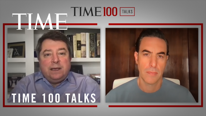 Watch: @SachaBaronCohen talks about what needs to happen in order for social media and democracy coexist #TIME100Talks