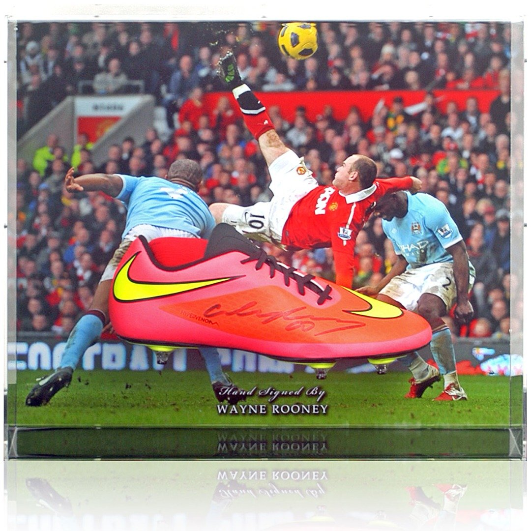 Wayne Rooney Hand Signed Football Boot Manchester United Large Display AFTAL COA Vendor: British Sports Museum... -  #gifts #gift #sports