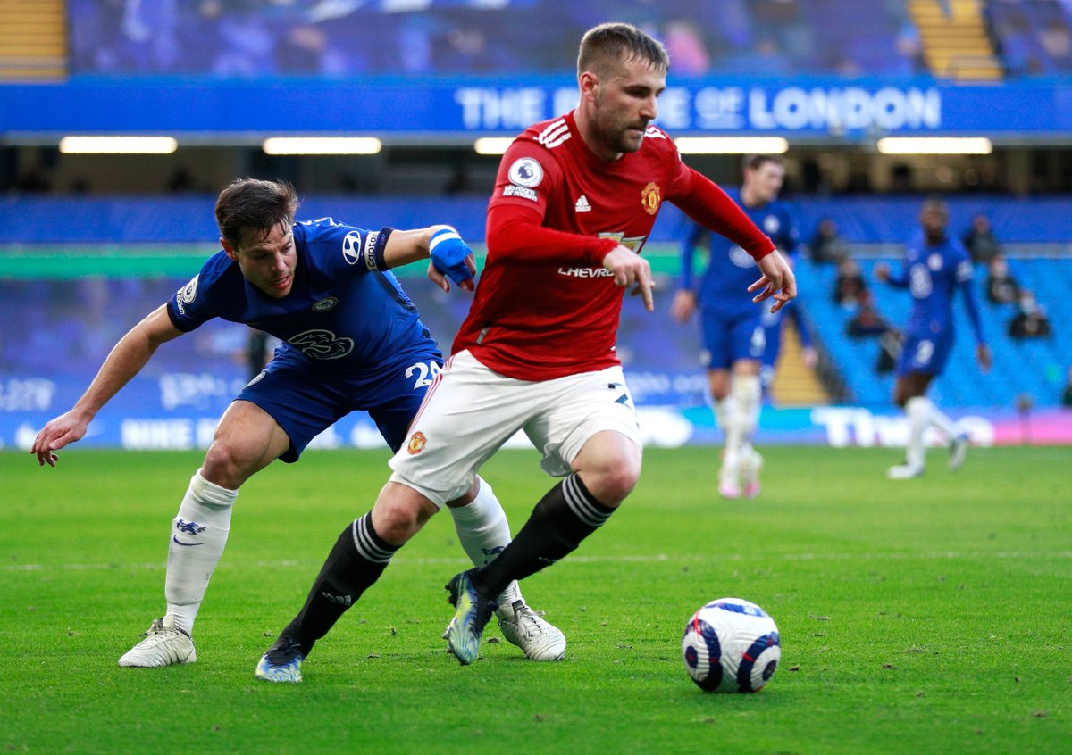 """Luke Shaw on Callum Hudson Odoi's handball: """"I even heard the referee say to H [Maguire], if I say it's a pen then it's going to cause a lot of people to talk afterwards."""""""