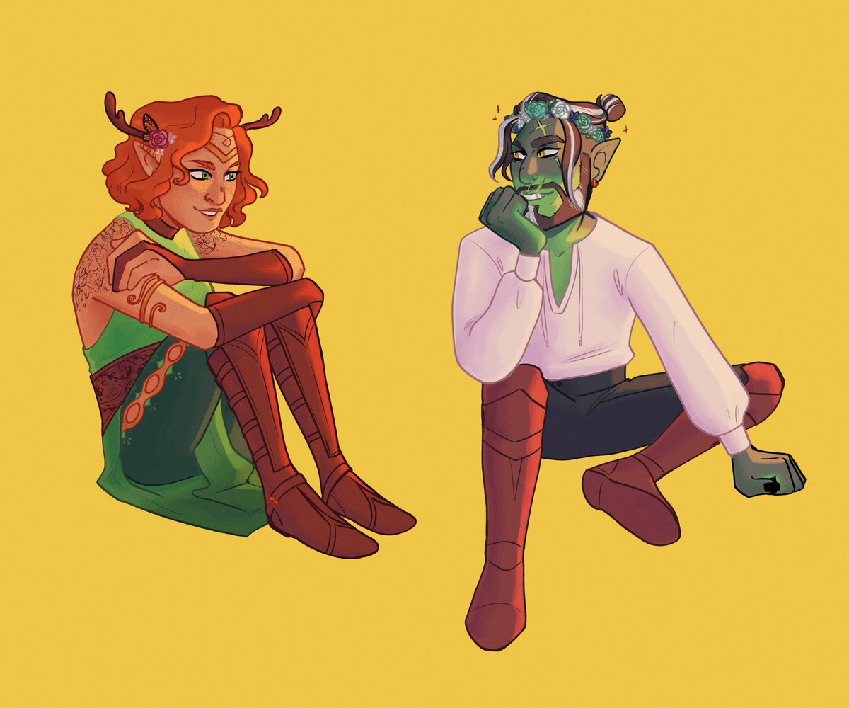 Replying to @drawsmaddy: I'm still thinking about how cute their friendship would be :) #CriticalRole #criticalrolefanart