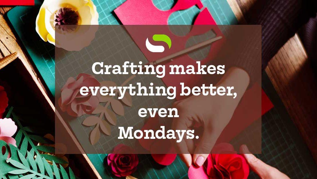 Now we're almost excited for Monday! #surebonder #sbmakerfamily #gluegun #hotgluegun #glueguncrafts #craftingwithglueguns #diy #doityourself #makers #craft #glue #creativity #motivational #craftmotivation #craftingismytherapy