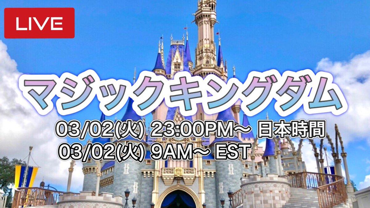 🔴ライブ #マジックキングダム から 予定  3月2日(火) 日本時間 23時〜                      アメリカEST 9時〜  突然でしかも平日の夜になりますが 皆さんと一緒に #キャラクター に会いに行けたら嬉しいです✨    #フロリダディズニー #マジックキングダム #海外ディズニー